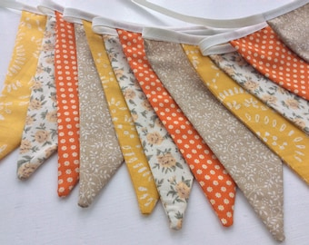 Yellow and orange bunting - bright shades for Autumn or Fall,  Fabric Garland, Wedding Bunting,
