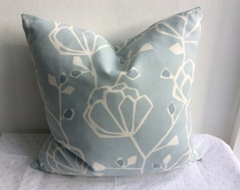 Blue Cushion Cover, Pillow Cover 16x16 inch or 40x40cm Contemporary design.