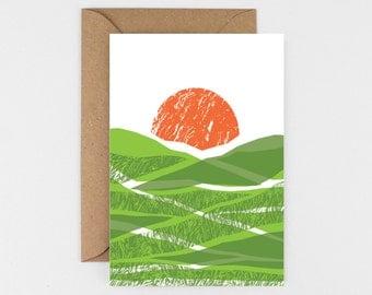 Green Fields Card