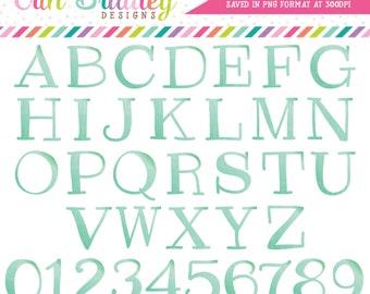 ON SALE Aqua Blue Alphabet Clipart Instant Download Commercial Use Clip Art Alpha for Digital Scrapbooking