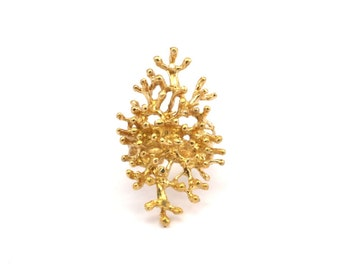 Brass Tree Ring -3 Raw Brass Adjustable Tree Rings N034