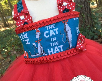 Cat in the Hat Tutu Dress - Cat in the Hat Dress