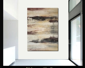 60x43 Ex large original modern landscape abstract painting by Elsisy, US artist