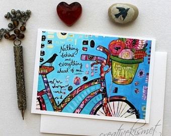 Nothing behind me - bike - 5x7 Art Card with Envelope