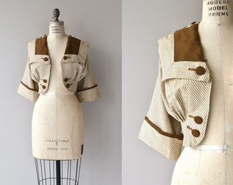 Antrim Gables jacket | antique Edwardian jacket | cropped gabardine wool 1910s jacket
