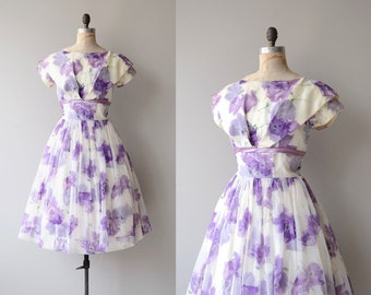Lost in Wonder dress | vintage 1950s dress | floral 50s party dress