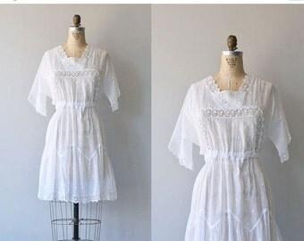 25% OFF.... Elea afternoon dress   1910s cotton dress   Edwardian lace tea dress
