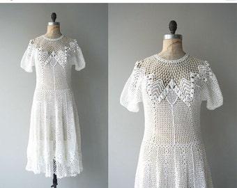 25% OFF.... Boheme crochet dress | white crochet dress | 1970s crochet dress