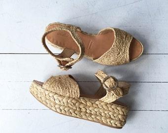 Robert Clergerie platforms | rattan platform sandals 8