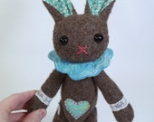 Button jointed Vintage Style Art Doll plush Bunny - No. 5