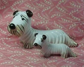 2 Vintage Metzler & Ortloff Germany Porcelain Dogs