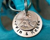 Lucky Us Copper Keychain, Couple gift, Wedding gift, Anniversary gift, 7th wedding anniversary gift, Traditional Wedding anniversary gift
