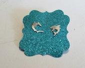 Shark Friends mismatched stud earrings in sterling silver