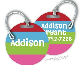 SWEET HEART Round premium bag tags - 4 inch - click on image to enlarge - seen in Parents magazine and Family Fun magazine