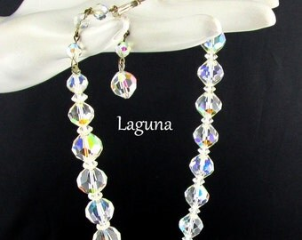Necklace Crystal Beaded by Laguna Vintage