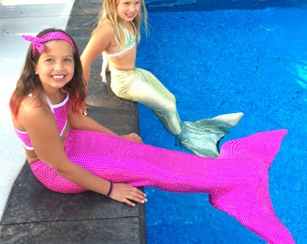 Mermaid Swimsuits Bikinis  Girls Top and Bottom tail not included Reg  46.00 Launch pricing 35.00