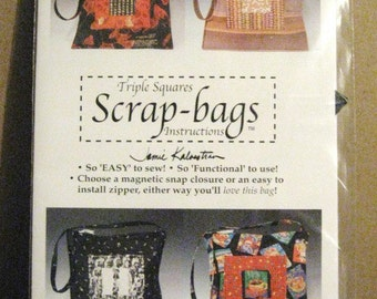 Triple Squares Scrap-bags Pattern - Super easy