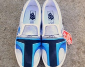 SALE-  Custom Jango Fett Shoes! Made to Order for Anyone! Vans or Toms included! Your choice!