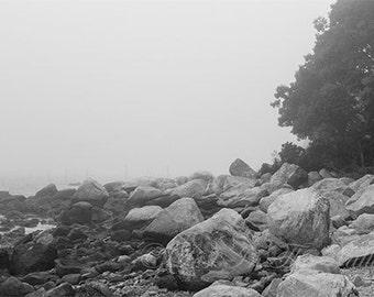 Nautical Photography / Beach Decor / Wall Decor / Fine Art Photograph / Ocean Print / Wall Art / Black and White Photography / Grey Tones