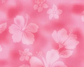 Cosmo Underwater Fabric pink with hibiscus