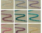 150 High Quality Colored Metal Ball Chain 2.4mm Necklaces with connectors 24 inch Select your Colors
