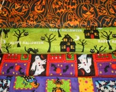 HALLOWEEN CLEARANCE #3 Fabrics, Sold INDIVIDUALLY not as a group, by the Half Yard
