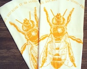 Eat HONEY - Multi-Purpose Flour Sack Bar Towels - Renewable Natural Cotton
