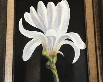 White Flower ( glows in the dark)