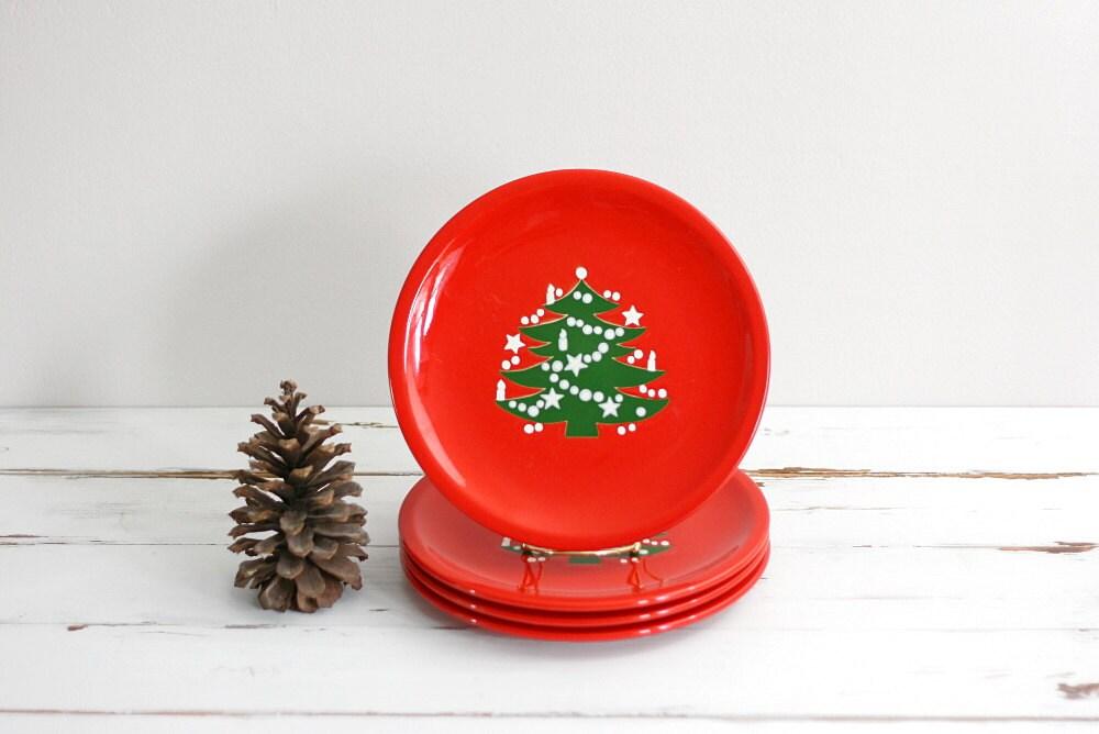 Vintage Waechtersbach Germany Christmas Tree Dinner Plates ...