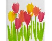 Bright Tulips Art Canvas