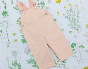 CLEARANCE SALE - Overall in Peach and Strawberry (double sided) - featured in Pregnancy & Newborn Magazine - Last One