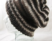 Mud - silk merino oversize slouchy hat