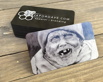 Thin Metal Business Cards -- Laser Etched with Your Graphics / Logo