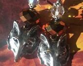 Shapeshifter Fox Shimmer Bead Earrings