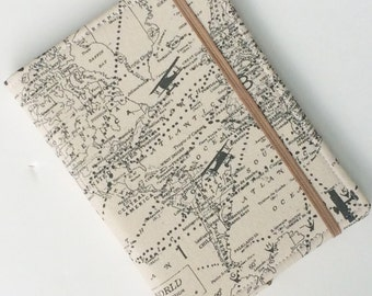 Kindle Paperwhite Case, Nook Glowlight Case, all sizes, World Map Airplane Tablet hardcover Cover