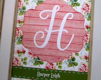 Personalized Nursery Print, Baby Girl Nursery Wall Decor, Custom Name Print, New Mom Gift, Nursery Art, Child Wall Art, Colorful Decor