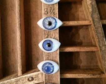 Antique Excavated Pinch Back Glass Doll Eyes