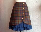 Brigitte wool ruffle front skirt Sz 12