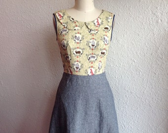 Marta cotton and linen dress Sz 4