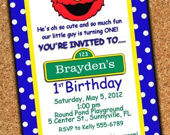 Custom Made Birthday Invitation - 4 x 6 print - Digital Delivery