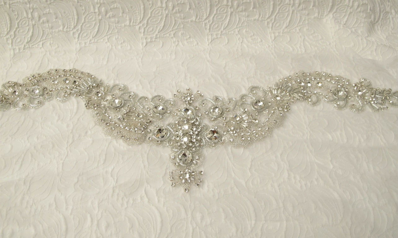 crystal collar applique rhinestone applique for by gebridal