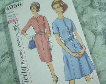 1960's One Piece step in dress with two skirts pattern - Simplicity 4956