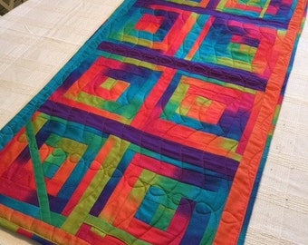 Multi colored table runner
