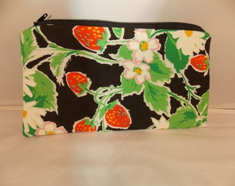 Pencil Pouch, Makeup Bag, Vintage Strawberries Gadget Case, Medicine Bag, Artists Storage Bag, Medicine Pouch, Makeup Pouch