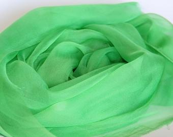 Lime Green Silk Chiffon Gauze  - Photo prop, Infant wrap - Great Gift - Low Shipping