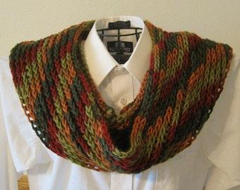 Crocheted Knit-Look Cowl / Scarf - Always Autumn