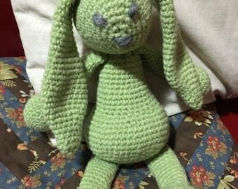 Lapinou crochet vert