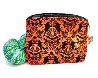 Zippered NOTIONS BAG with zipper pull -   Hocus Pocus