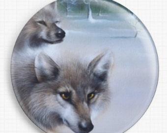 Needle Minder, Cross Stitch, David Finney, CrossStitch Tool, Wolves, wolf Minder, Cross Stitch Keeper, Fridge Magnet, Pin Keeper,