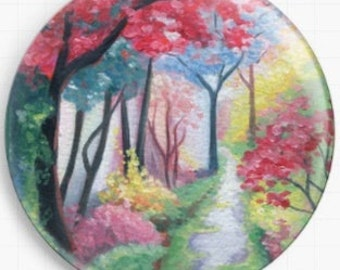 Needle Minder - Licensed - Follow The Path By Emily Luella Cross Stitch Keeper - Fridge Magnet